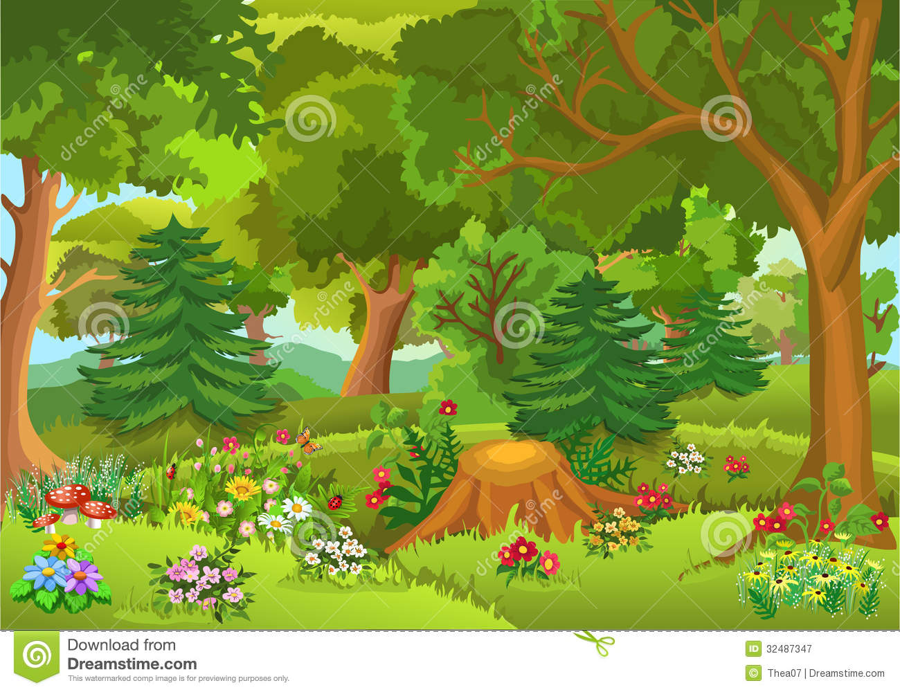 hight resolution of forest clipart
