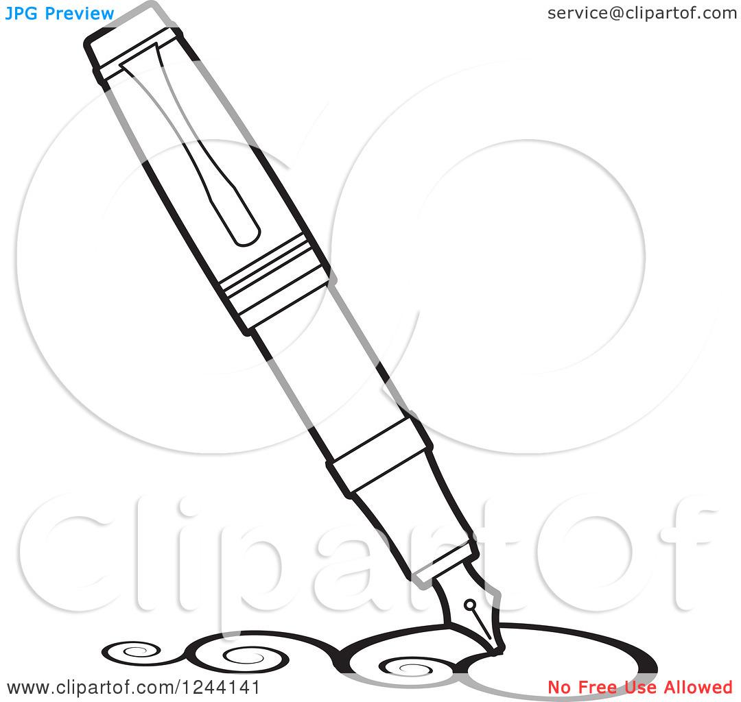 Fountain Pen Drawing Clipart Panda
