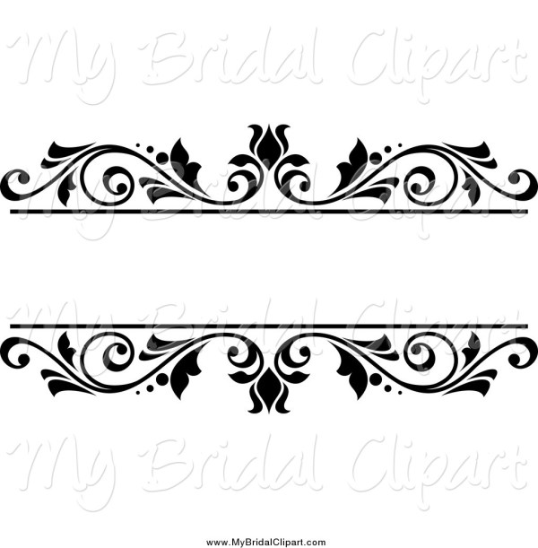wedding clip art black and white
