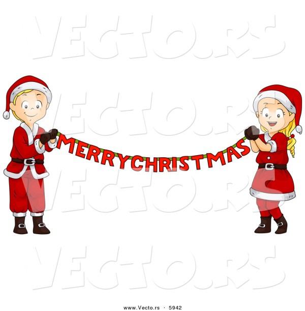 Merry Christmas Banner Clip Art
