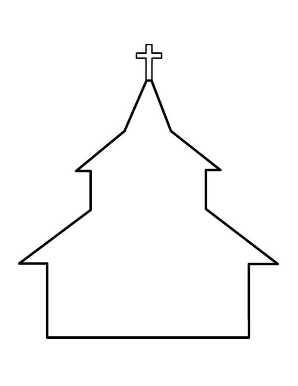 church steeple clip art black