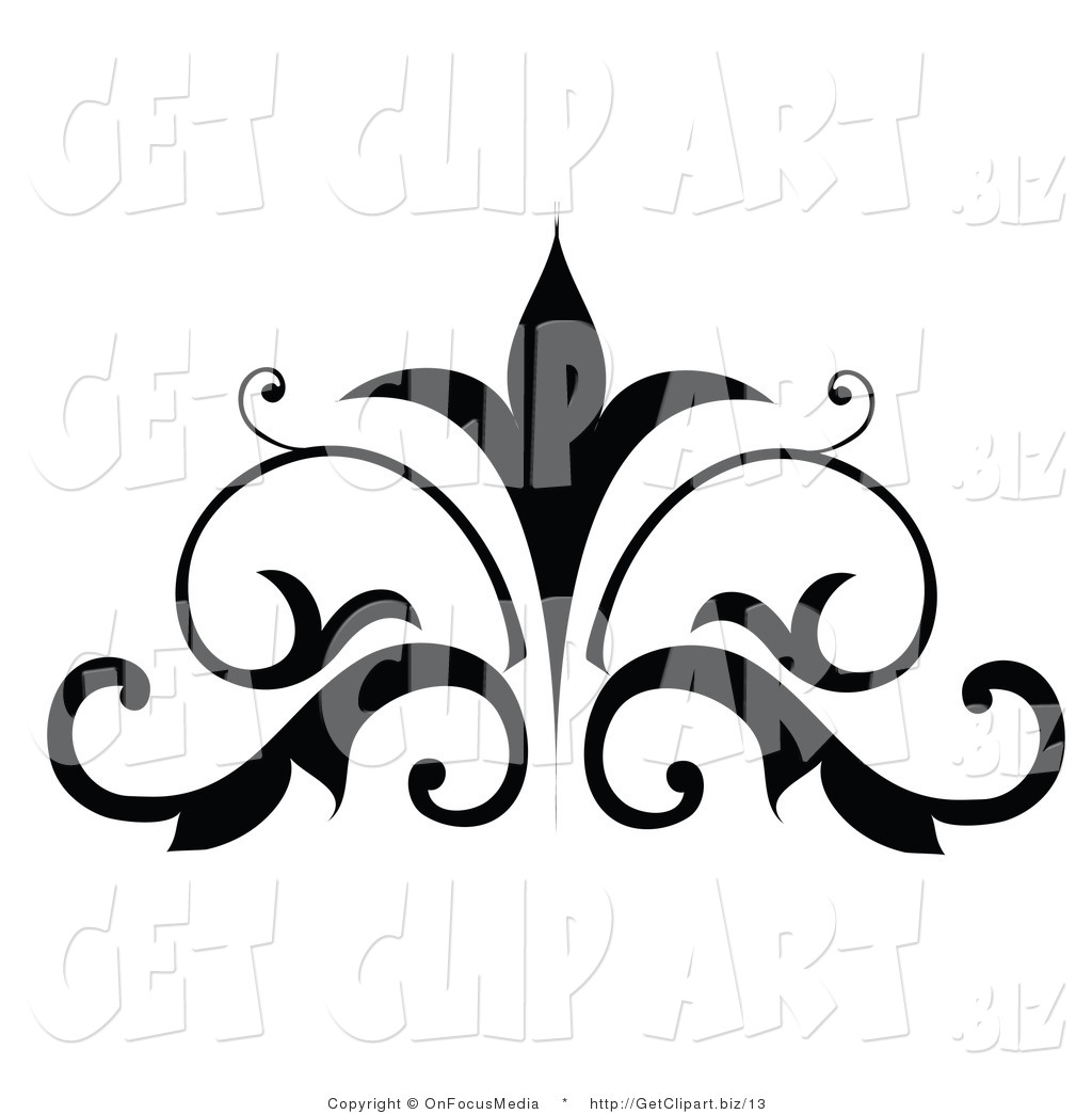 hight resolution of free scroll clipart