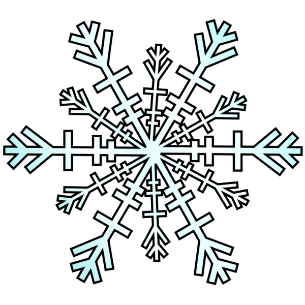 winter snowflakes clipart