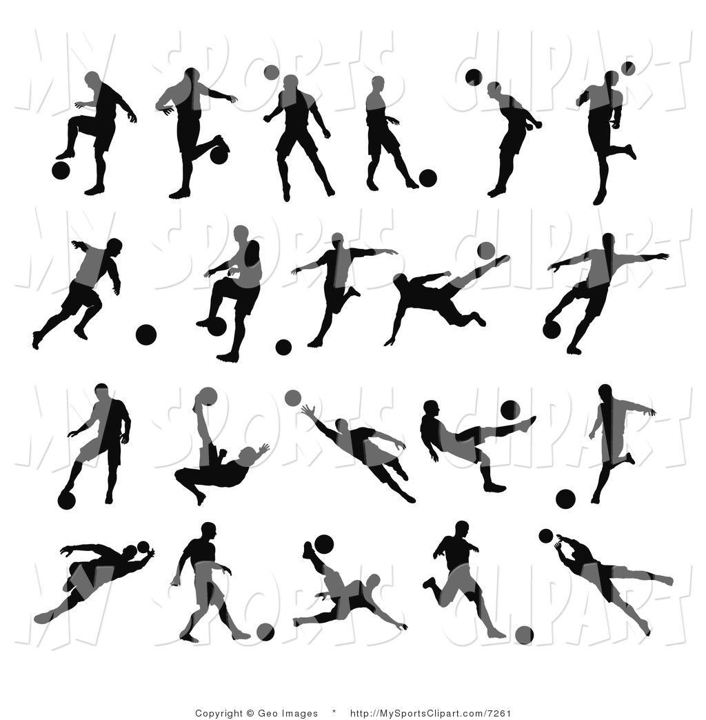 Soccer Kids Clip Art Black And White