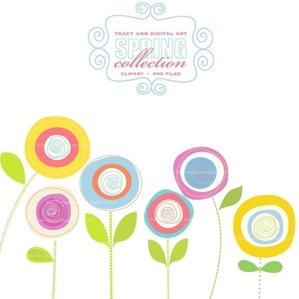 hight resolution of free spring clipart