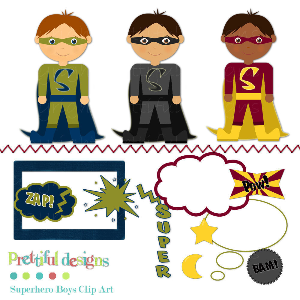 hight resolution of free superhero clipart