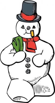 winter snowman clip art clipart