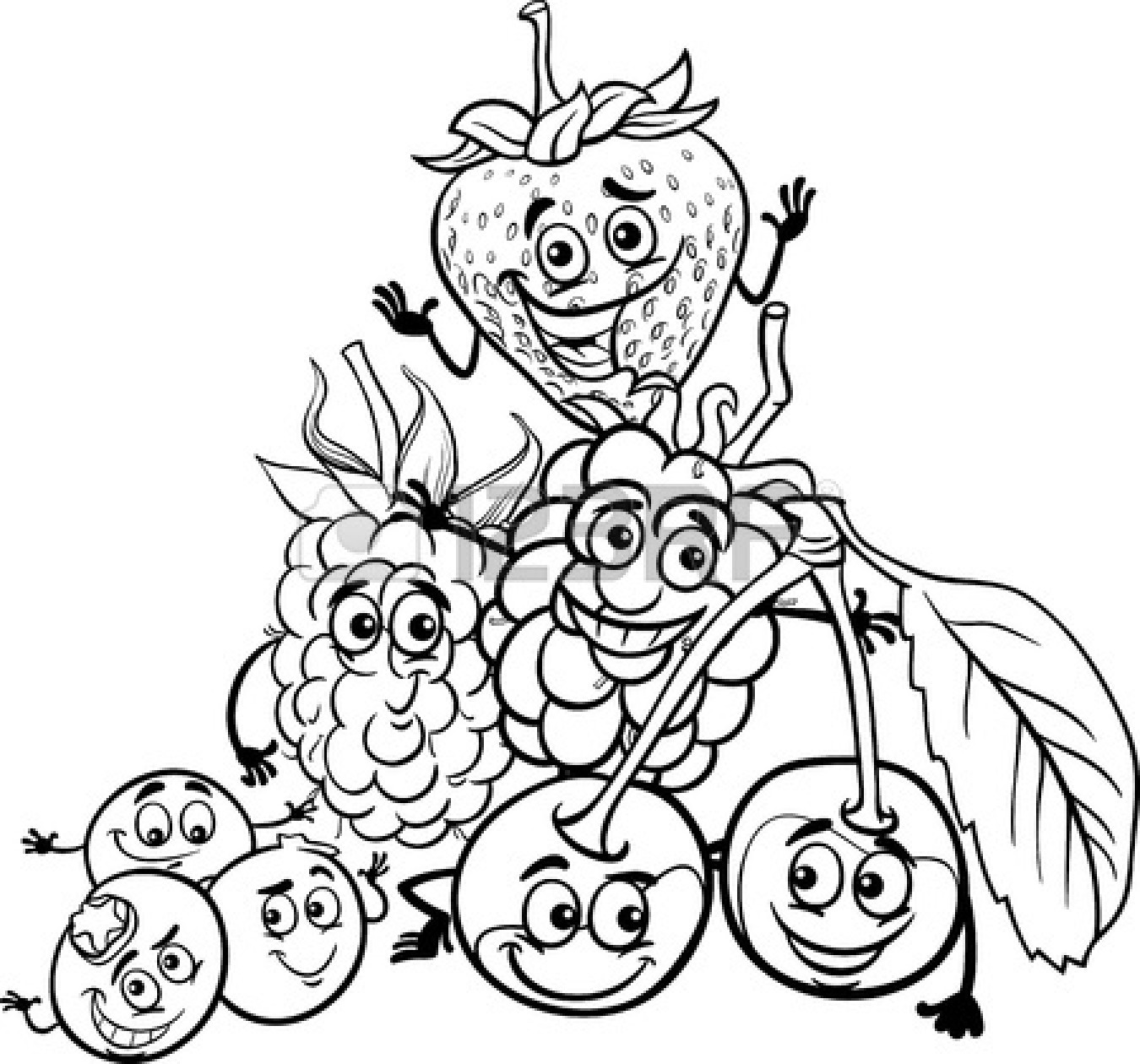 Black And White Fruit Clipart Clipart Panda