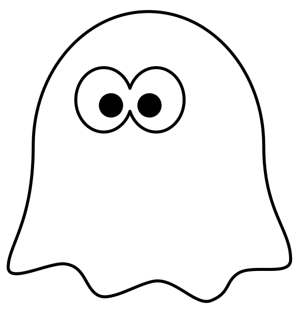ghost clip art black and white