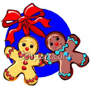 gingerbread man clip art black
