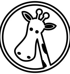 giraffe clipart outline [ 999 x 999 Pixel ]