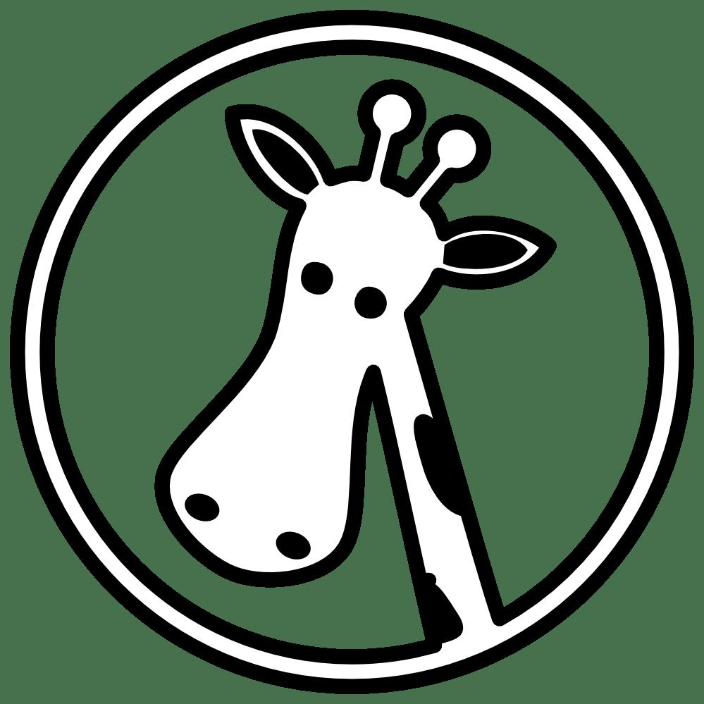medium resolution of giraffe clipart outline