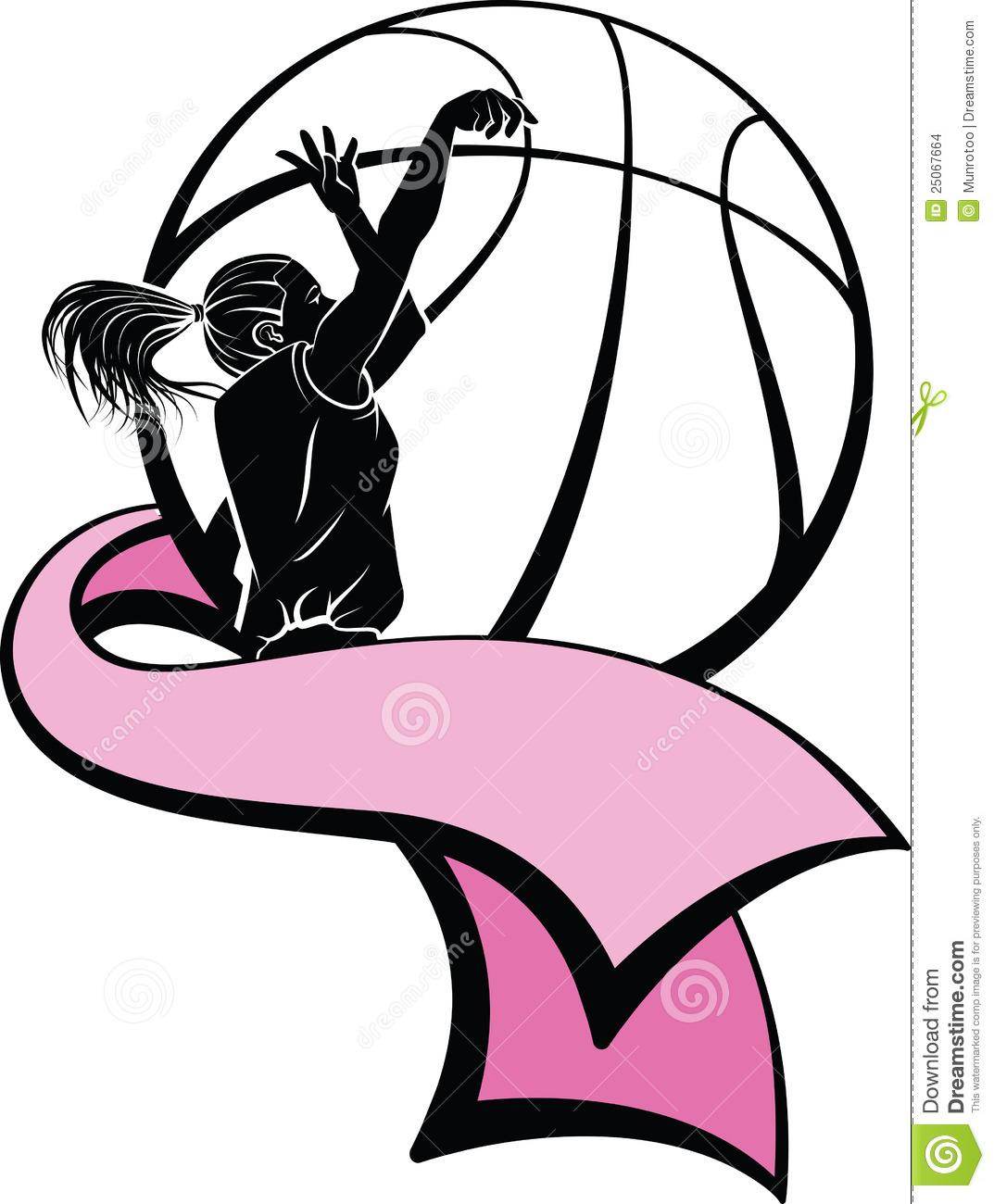 Girl Basketball Player Clipart Shooting