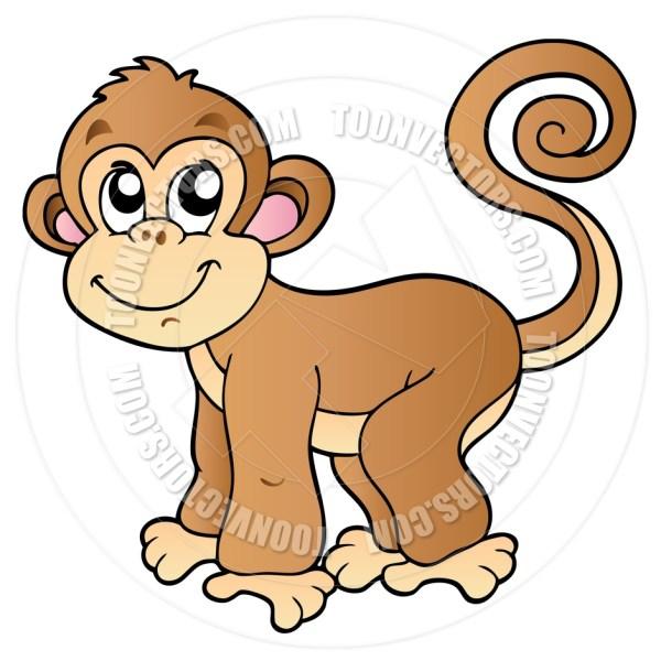 girl monkey cartoon clipart panda