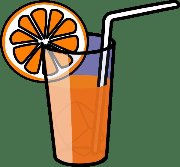 orange juice clipart black