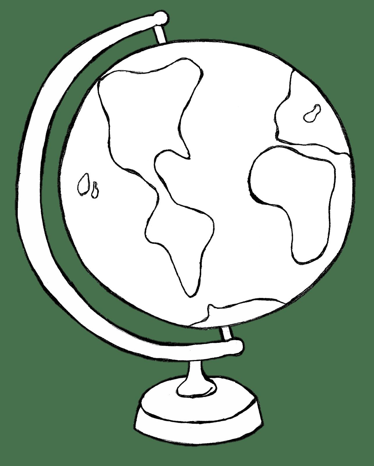 Globe Clipart Black And White Clipart Panda