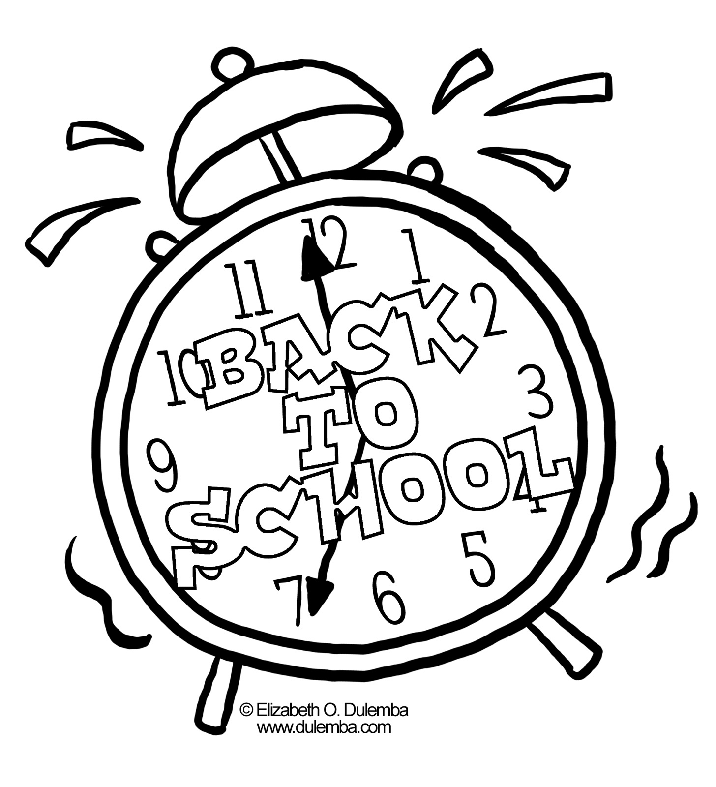 School Supplies Coloring Pages Clipart Panda