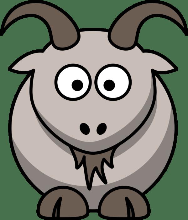 goat clip art black and white