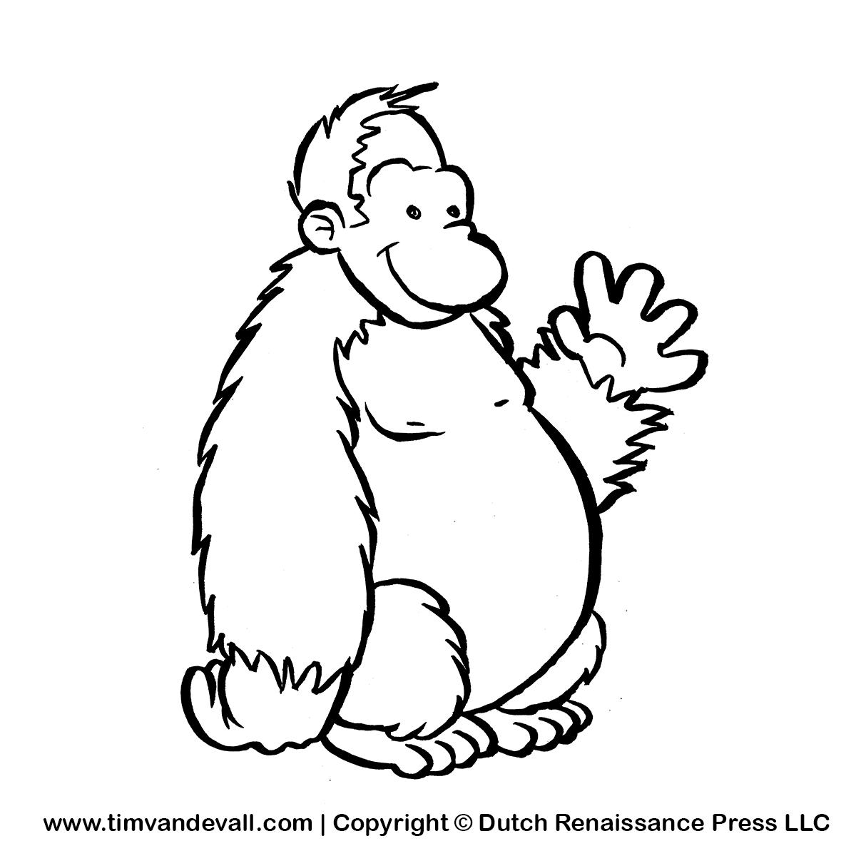 Gorilla Clip Art Black And White Clipart Panda