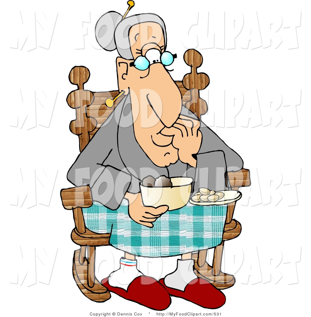 hight resolution of grandmother knitting clipart