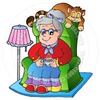 Grandmother Knitting Clipart   Clipart Panda - Free ...