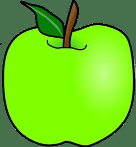 green apple clipart panda