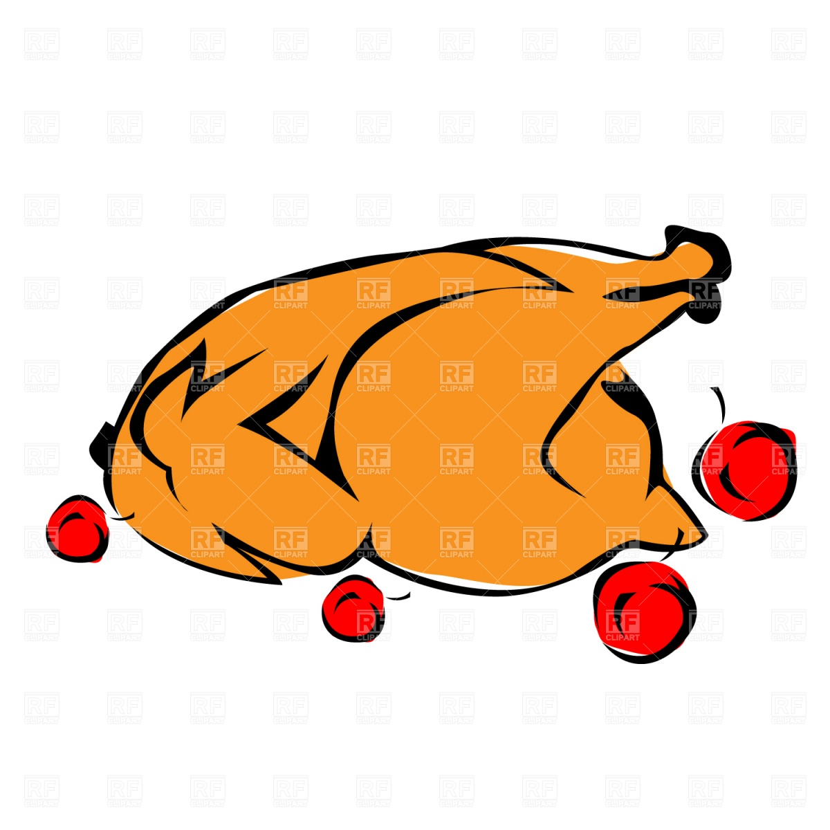 hight resolution of grilled chicken clipart
