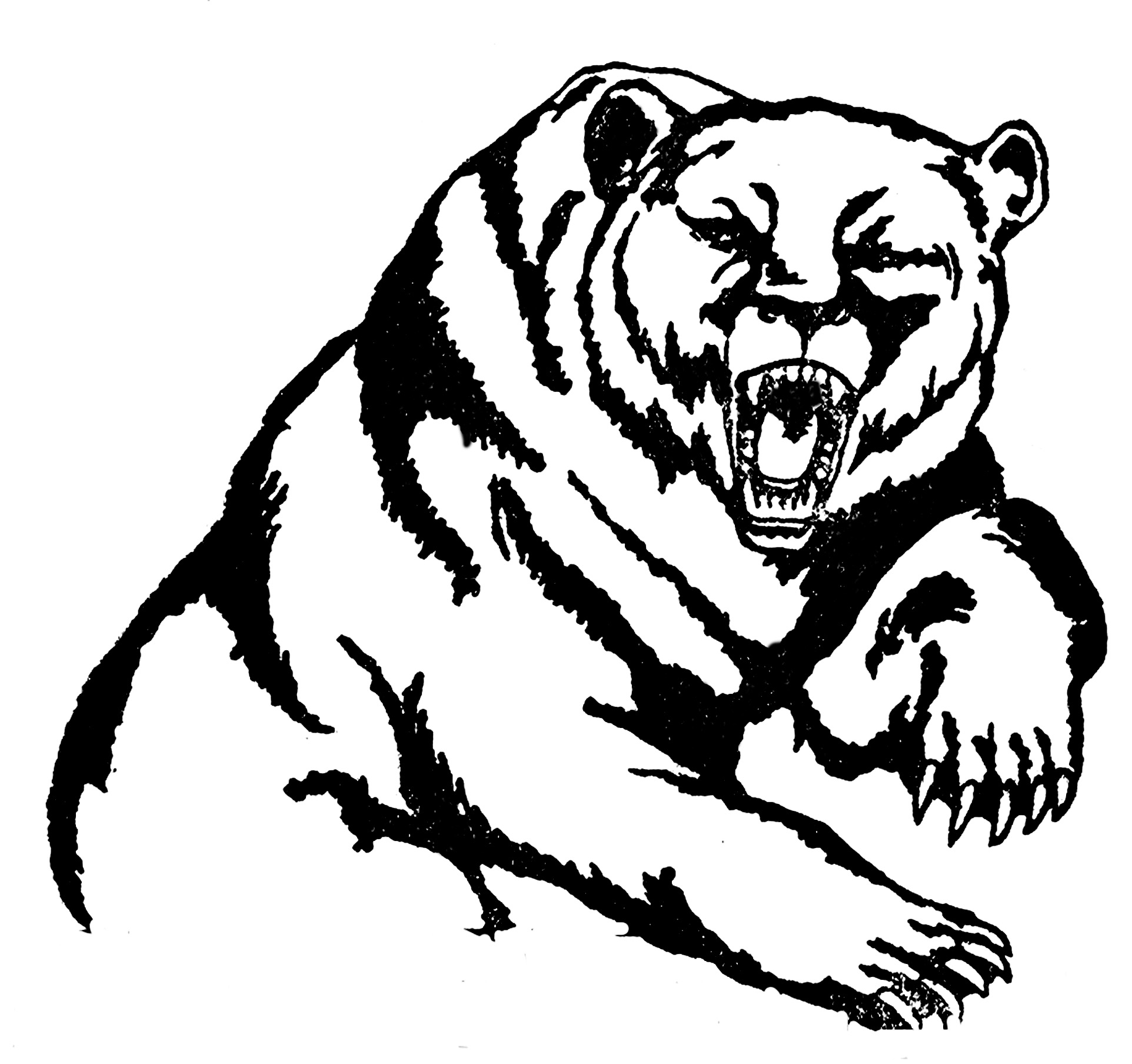 hight resolution of grizzly bear mascot clipart