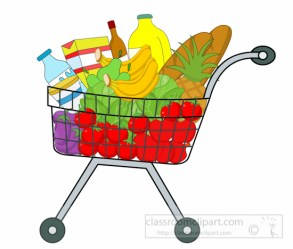 grocery shopping clipart cart food clip groceries transparent bing pantry projects these cliparting webstockreview