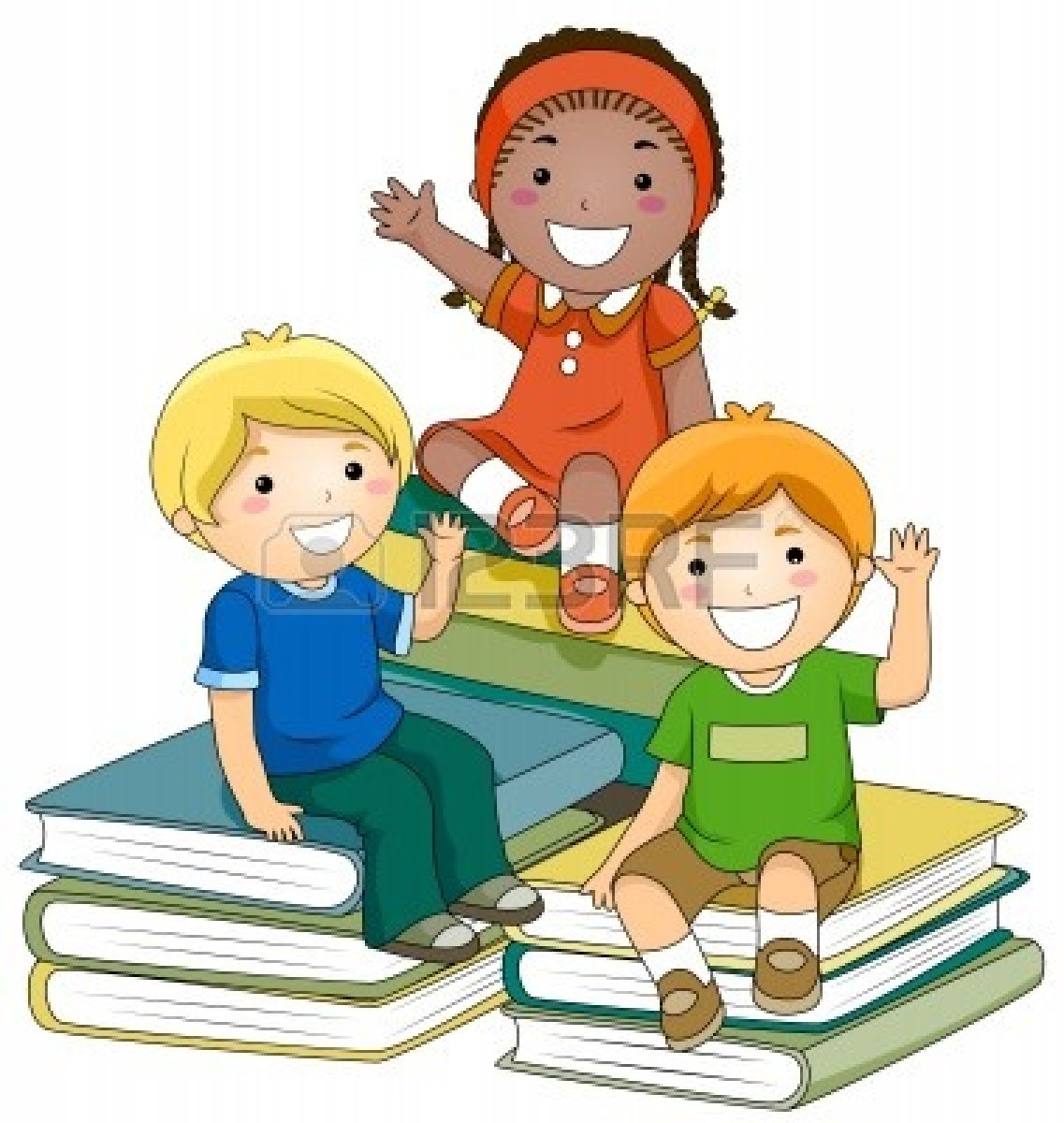 hight resolution of group of kids sitting clipart
