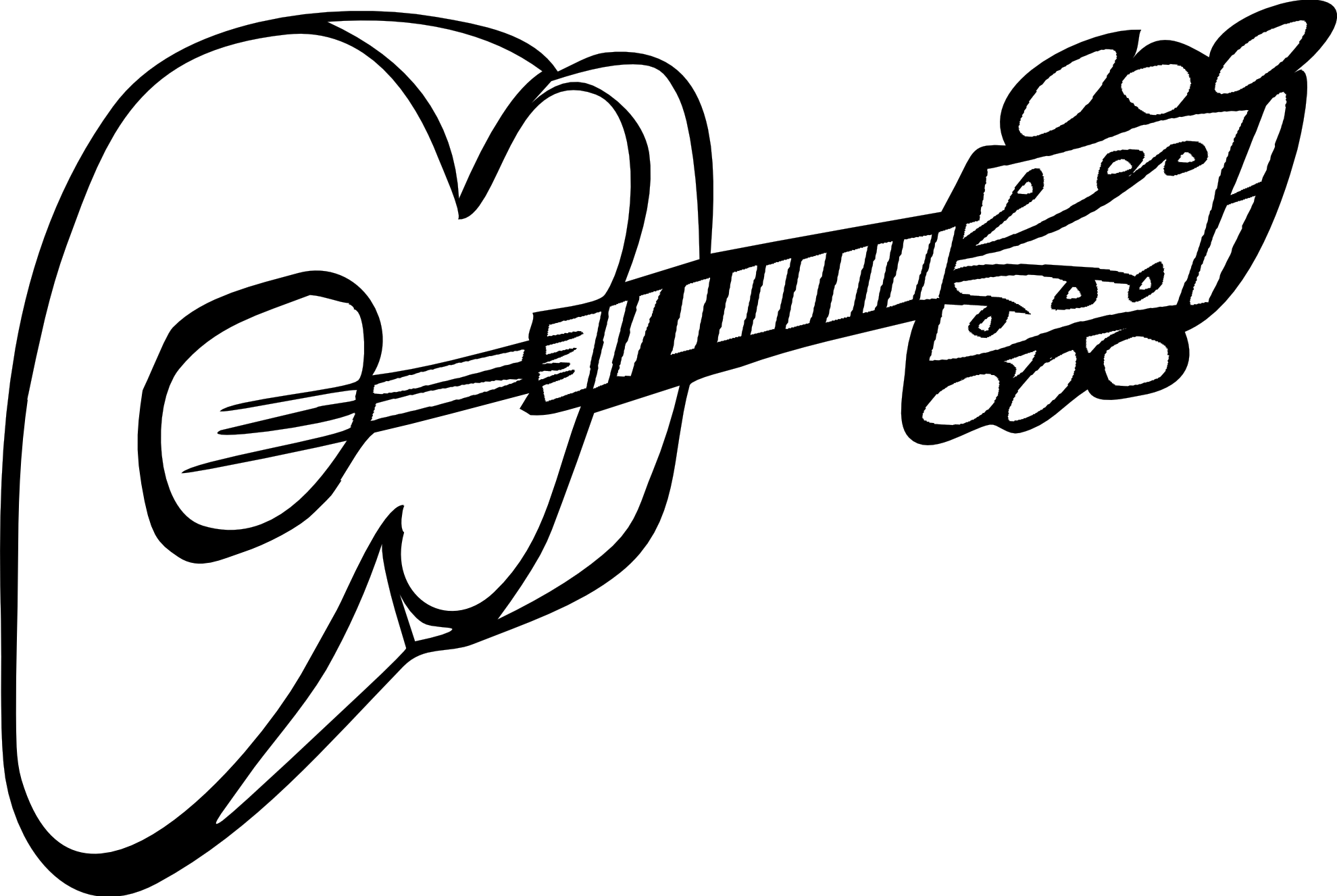 guitar clip art black
