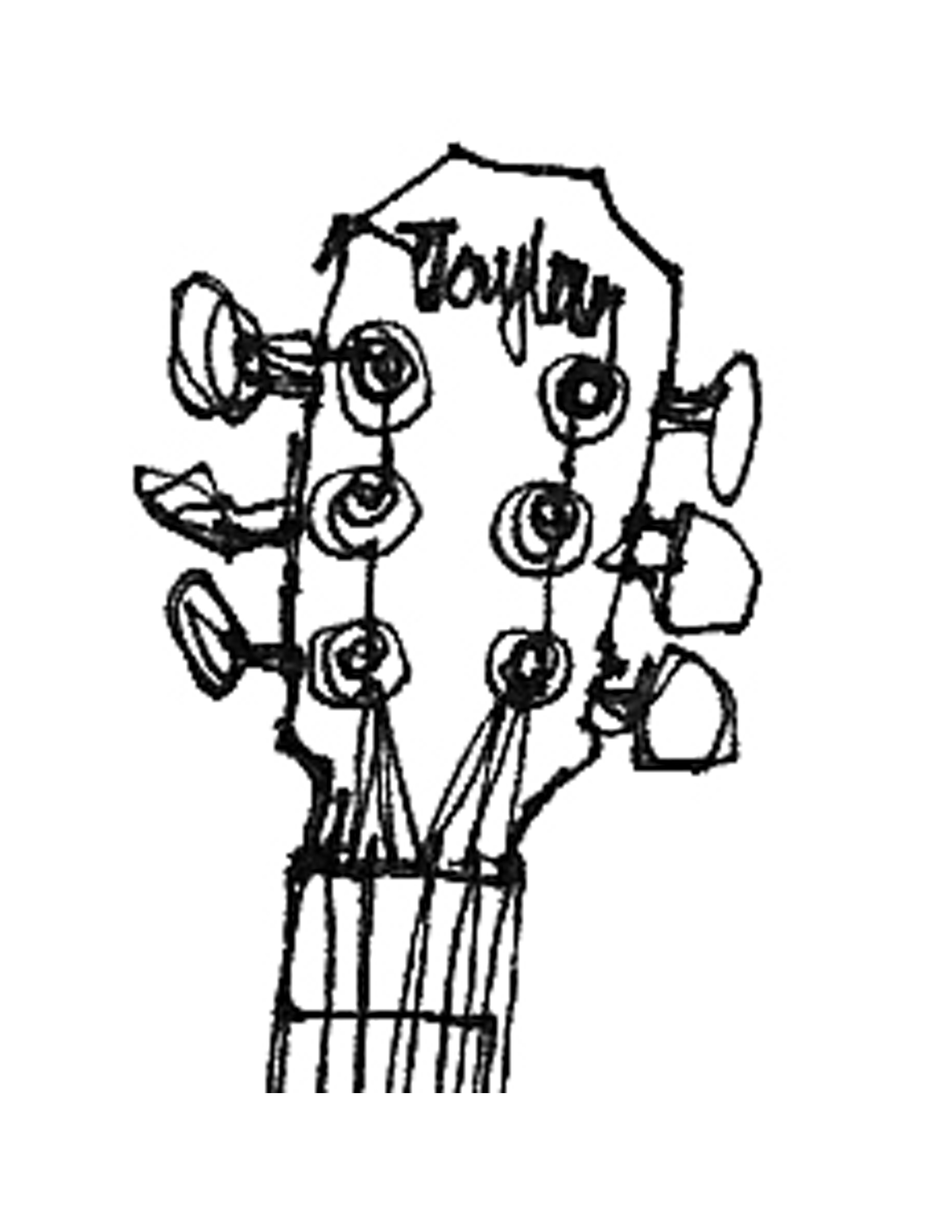 Guitar Outline Template Clipart Panda
