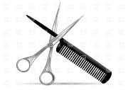 hair salon clipart black and white