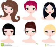 hairstyles clip art free clipart