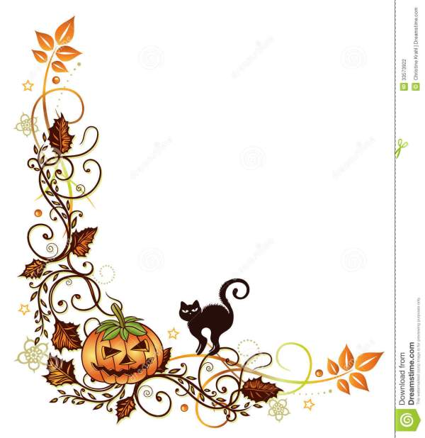 pumpkin border clipart