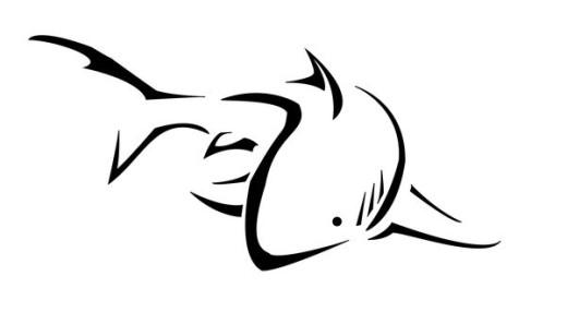 Shark Outline Tattoo