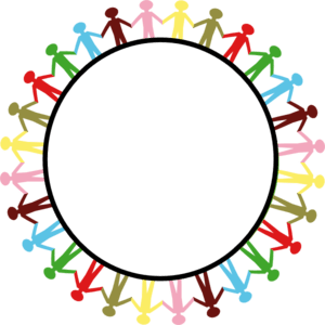 hand print clip art in circle