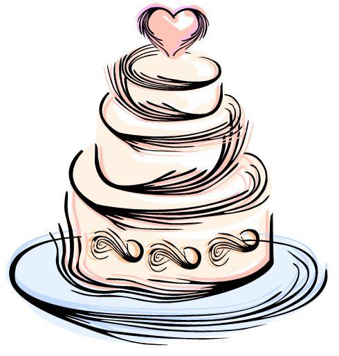 Elegant Wedding Cake Clip Art Clipart Panda Free