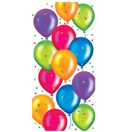 happy birthday balloons clipart [ 1600 x 1600 Pixel ]