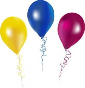 party balloons clipart