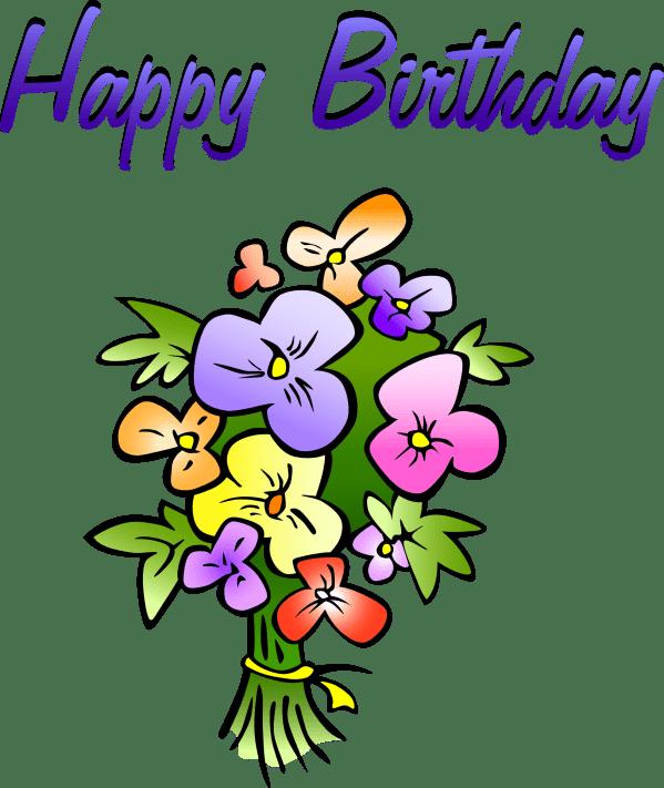 birthday flowers clipart
