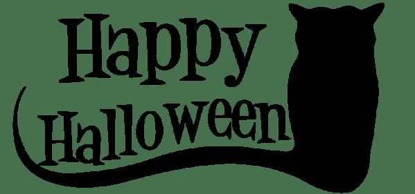 happy halloween clipart black