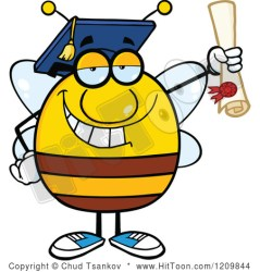 cartoon student happy bee clipart diploma pudgy smiling clip graduate clipartpanda library vector terms shutterstock