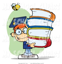 clipart clip happy royalty student books boy covers text carrying head clipartmag