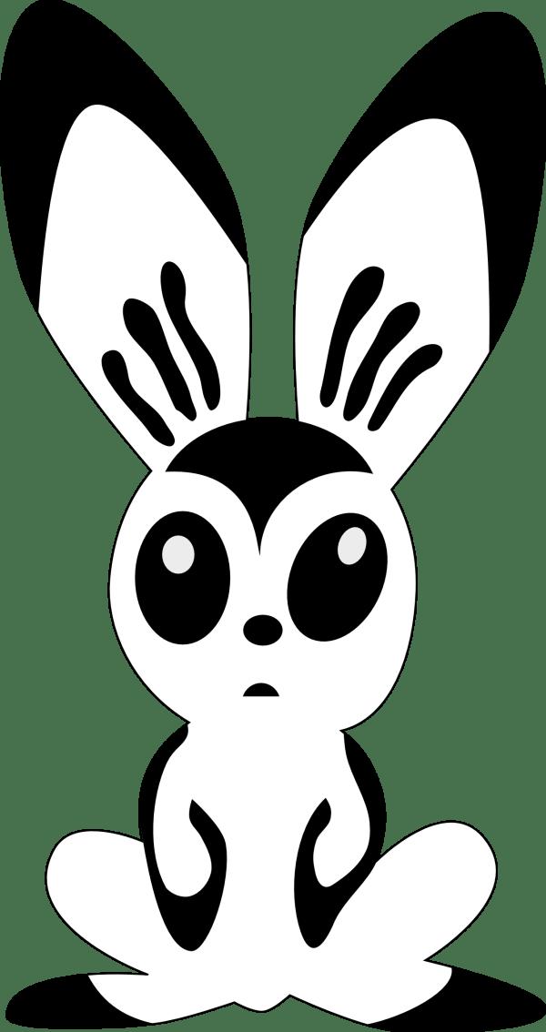 Bunny Clip Art Black and White