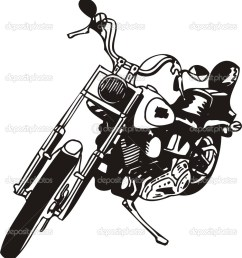 harley clip art [ 942 x 1024 Pixel ]