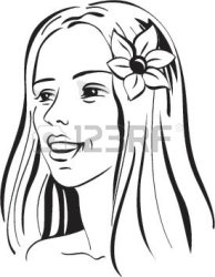 clipart woman hawaiian clip vector hair flower clipartpanda graphic terms websites reports powerpoint these