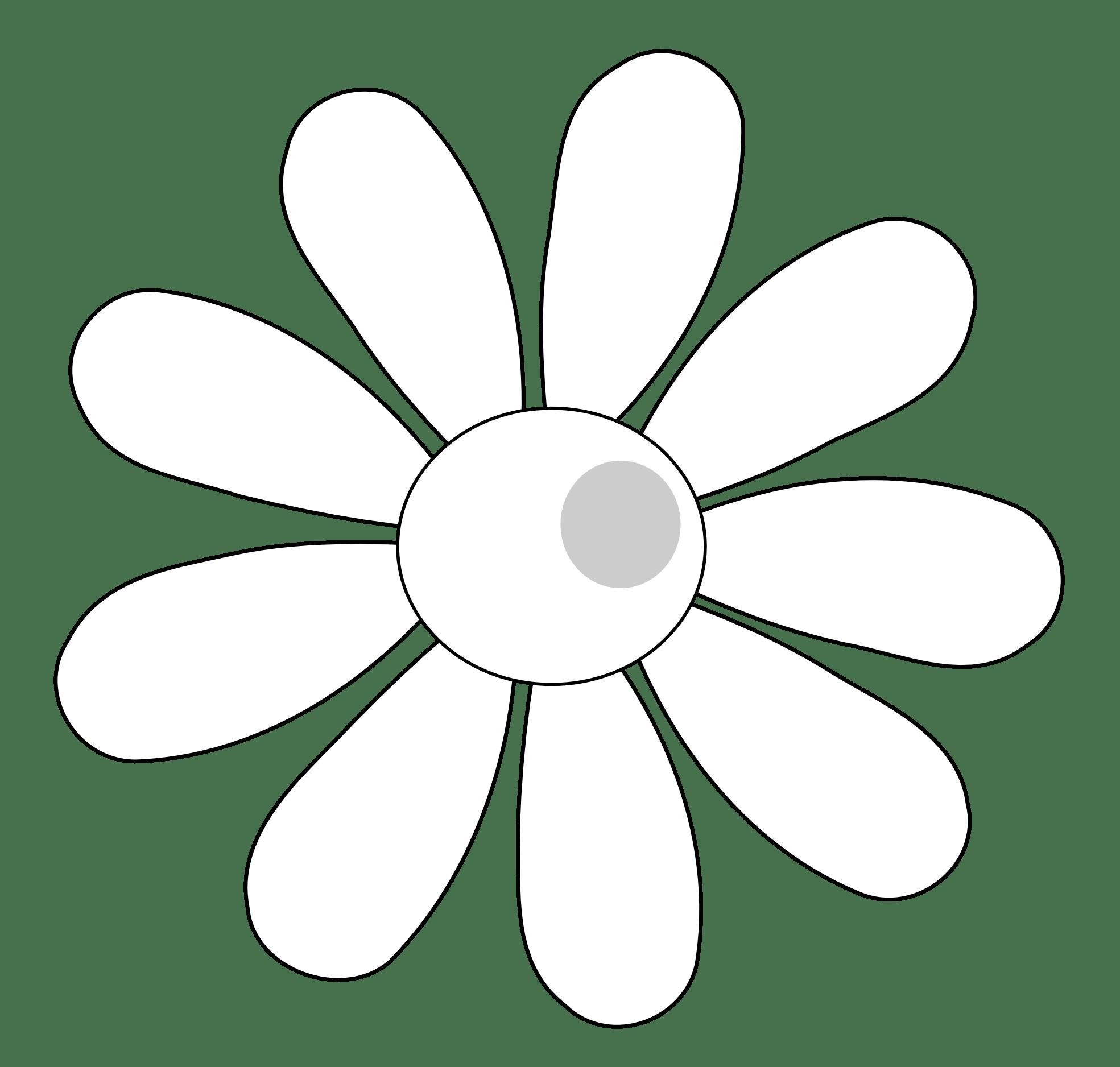 Hawaiian Flower Clip Art Black And White