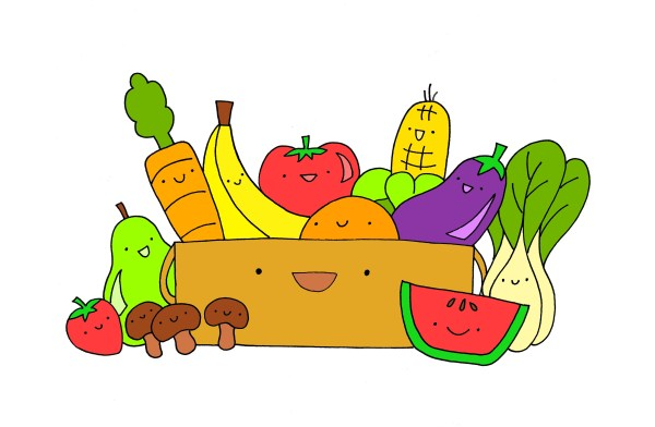 Healthy Food Border Clipart Panda - Free