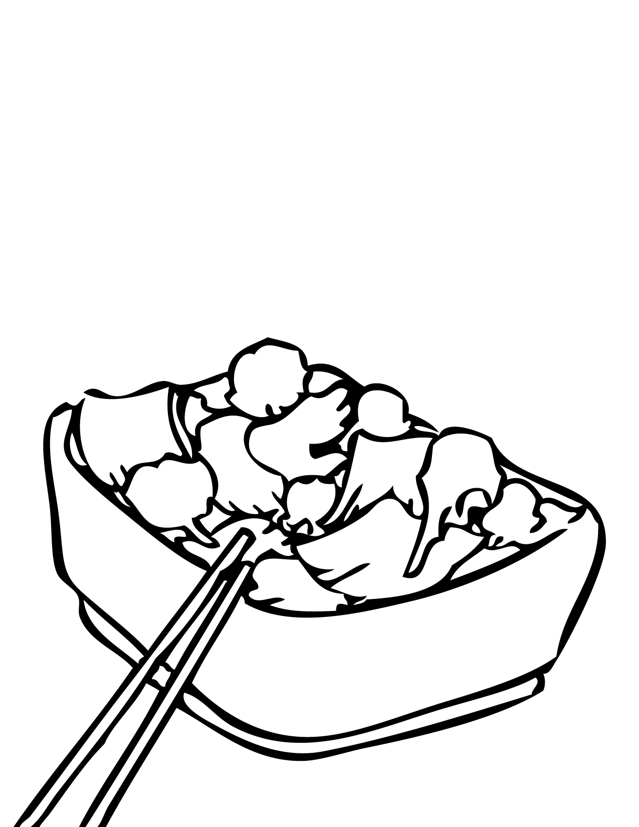 Healthy Food Coloring Pages Clipart Panda